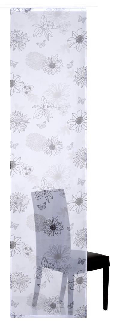 Flächenvorhang Elbersdrucke  Flower Mix schwarz