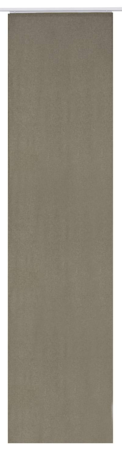 Flächenvorhang Elbersdrucke  Lino braun