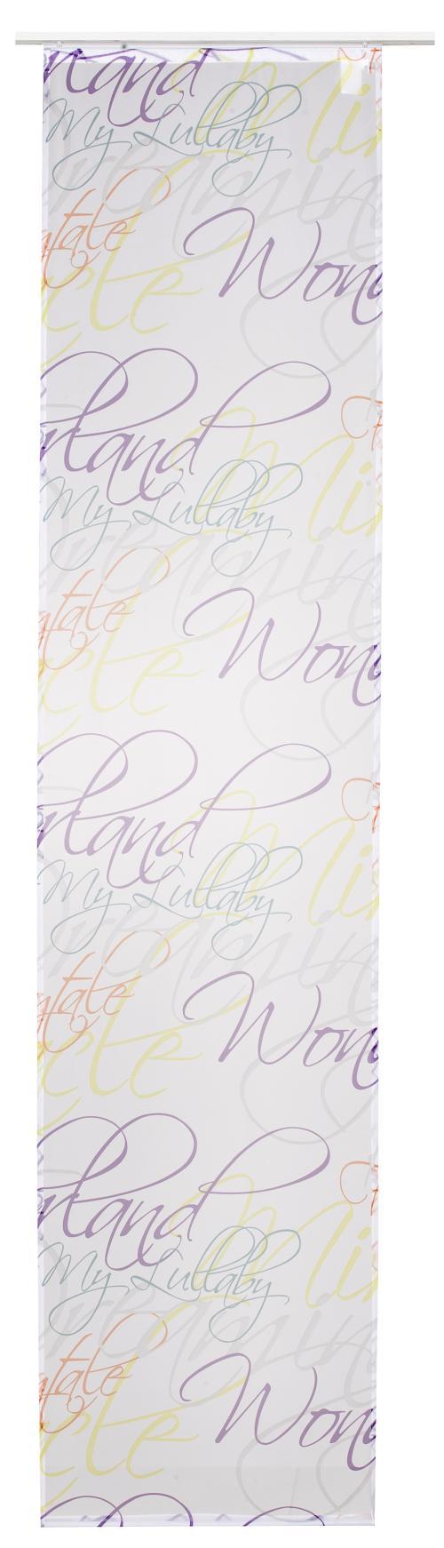 Flächenvorhang Elbersdrucke  Script multicolor