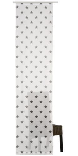 Flächenvorhang Elbersdrucke  Star weiß-grau
