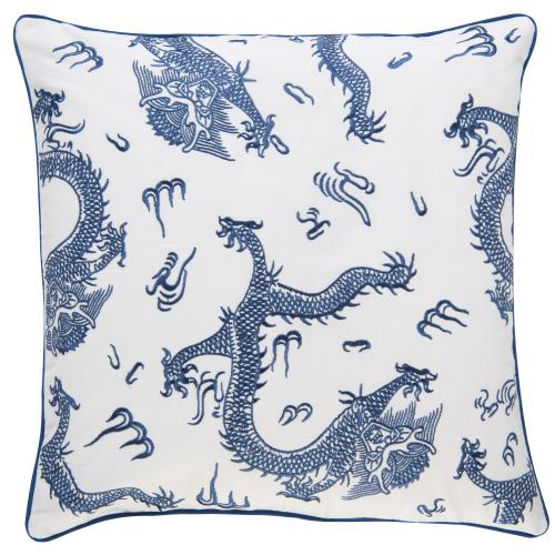 Kissen BARBARA  Dragon blau