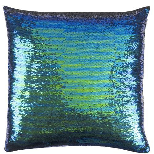 Kissen freundin Home Collection  Paradise grün-blau-schwarz