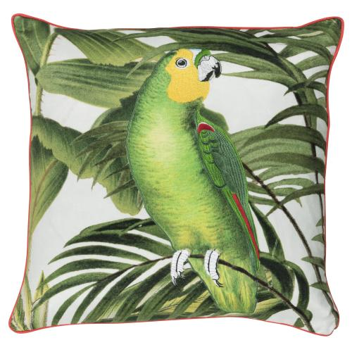 Kissen freundin Home Collection  Paradise offwhite-grün