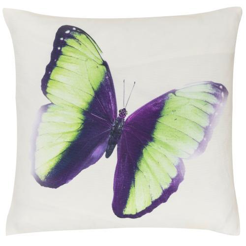 Kissen freundin Home Collection  Summer Buttelfly offwhite-grün