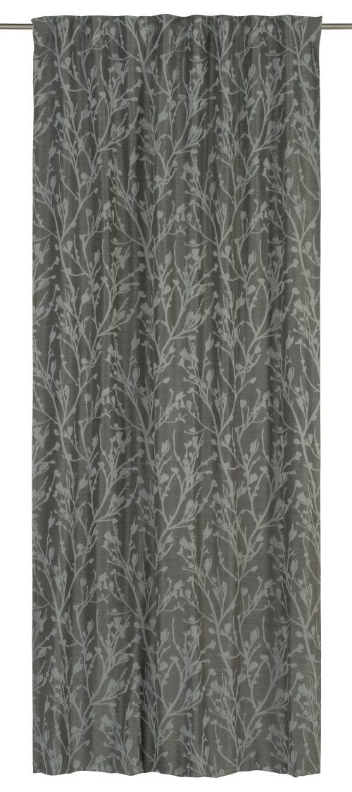 Schlaufenbandschal Elbersdrucke  Secret Garden grau-silber-schwarz